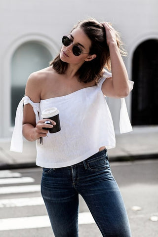Harper and Harley blogger fashion White crop top