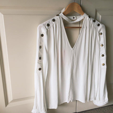 white blouse cut out