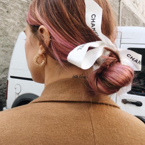 Chanel ribbon in hair always judging