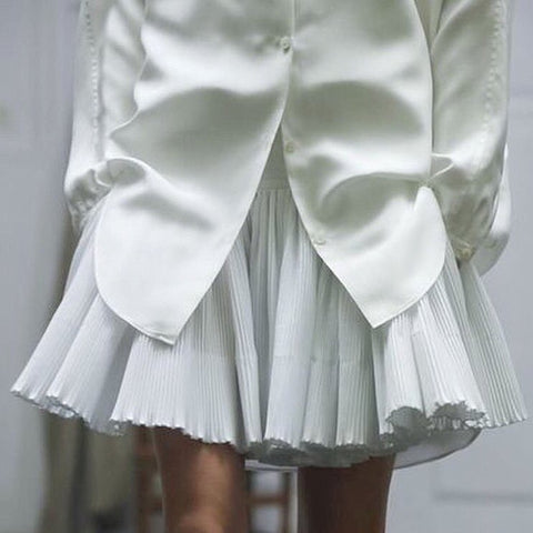 Shirt pleated skirt fashion tumblr beauty pinterest