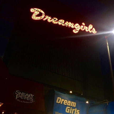 Dreamgirls neon image fashion blog
