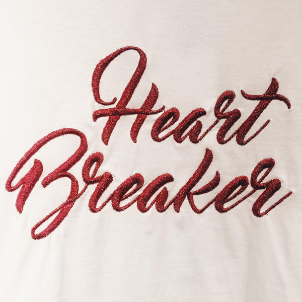 Heart breaker embroidered top