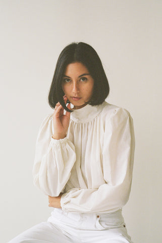 Ami Blouse in Ivory