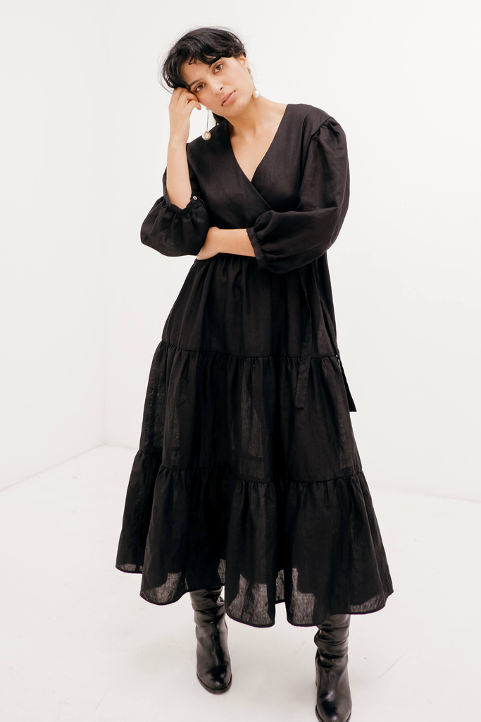 Basa Maxi Dress in Black