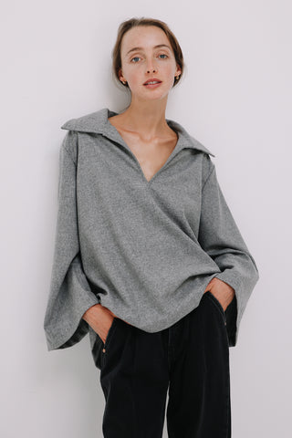 Clarke Jumper in Grey Marle, Tops, Ellis Label - Ellis and Friends