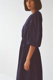 Klein Maxi Dress in Navy