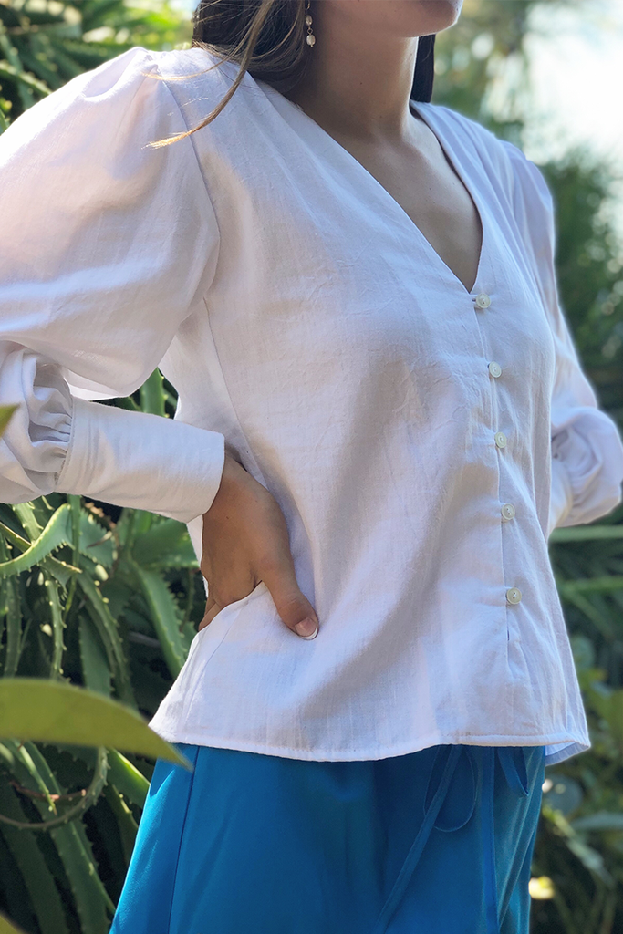 Maya Blouse in White, Tops, Ellis Label - Ellis and Friends