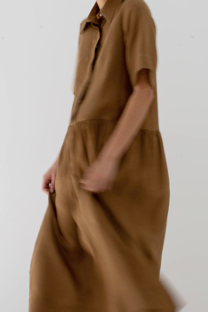Mes Deux Midi Dress in Toffee