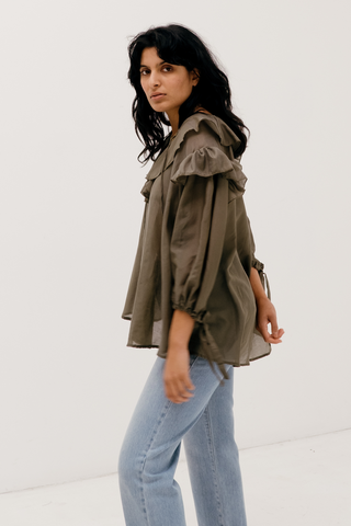 Studio Blouse in Khaki