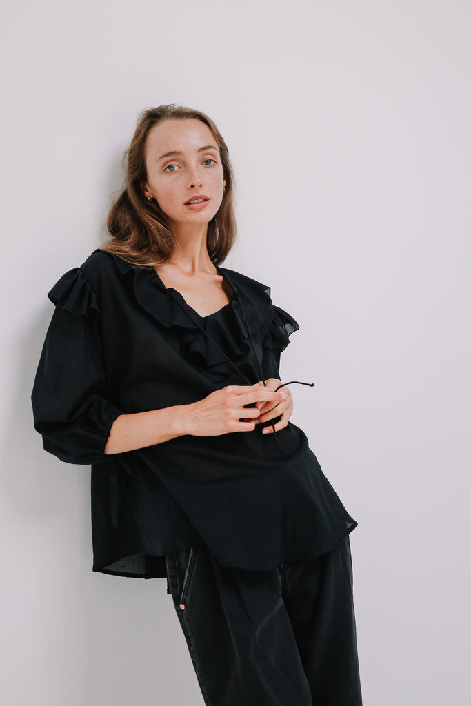 Studio Blouse in Black, Tops, Ellis Label - Ellis and Friends
