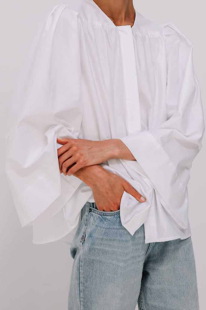 Voyage Shirt in White, Tops, Ellis Label - Ellis and Friends