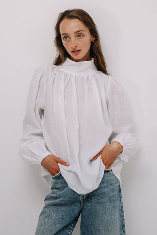 Ami Blouse in White, Tops, Ellis Label - Ellis and Friends