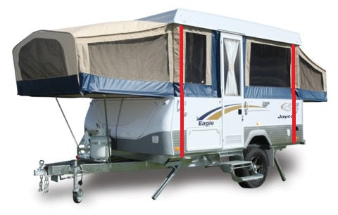 Attaching sail track to a camper trailer or caravan
