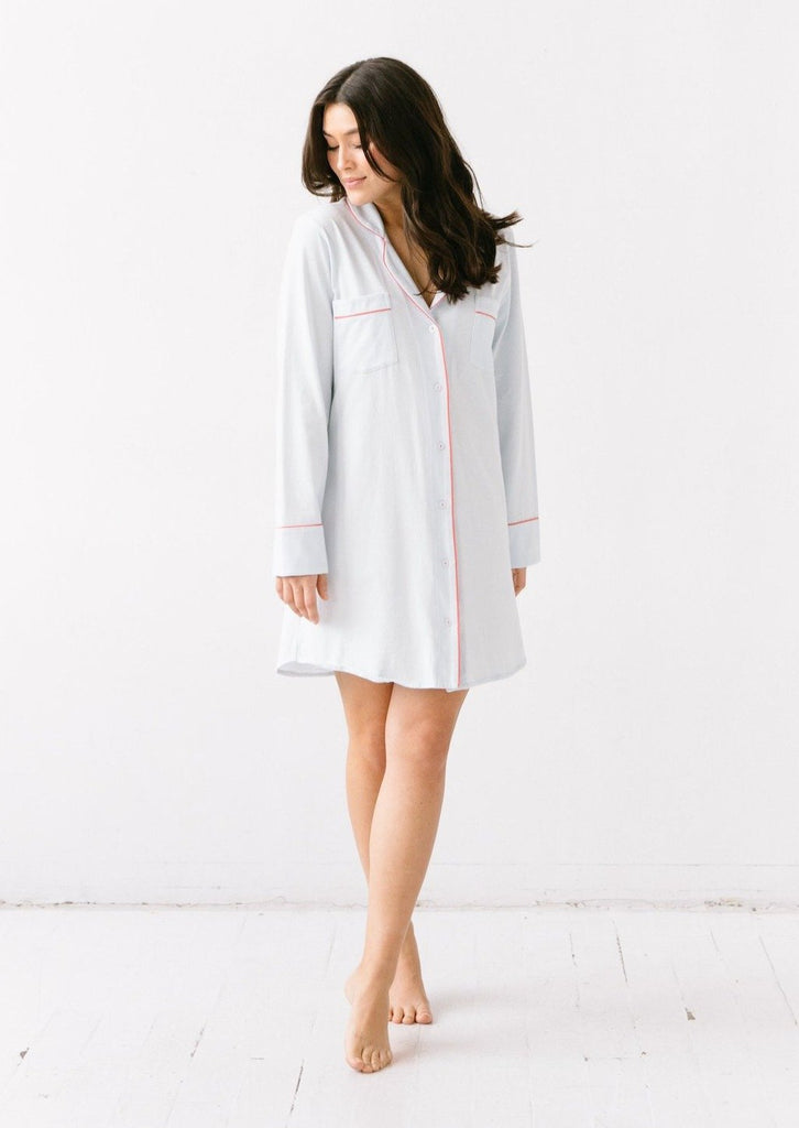 Salua Sleep Shirt in Pima Cotton