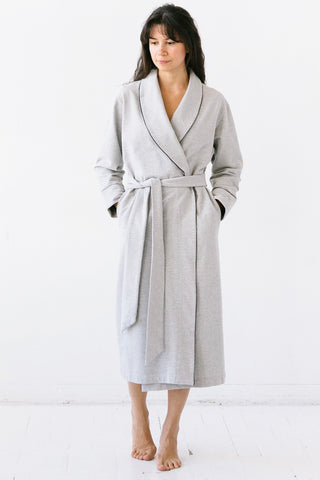 Long Plush Robe in Pima Cotton
