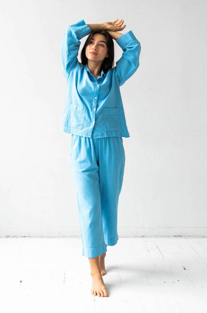 Woven Patch Pocket Pajamas