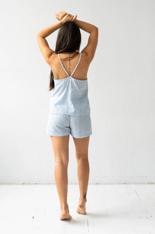 Woven V-Back Tank and Shorties