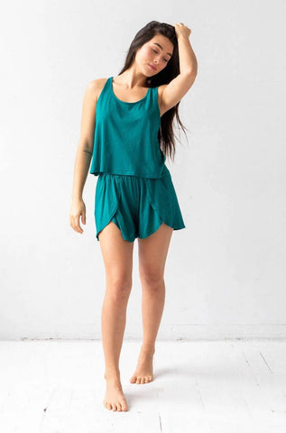 Pima Drape Back Tank and Tulip Shorties
