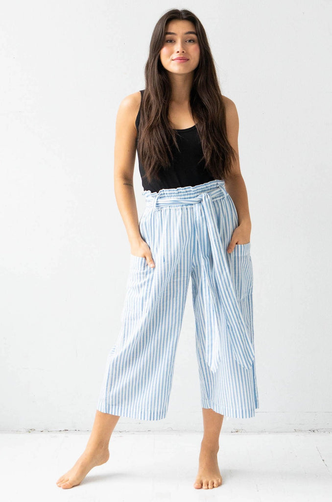 Tie Waist Crop Pants - COMING SOON!