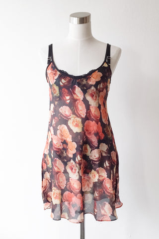 Emma Cotton-Silk Printed Chemise