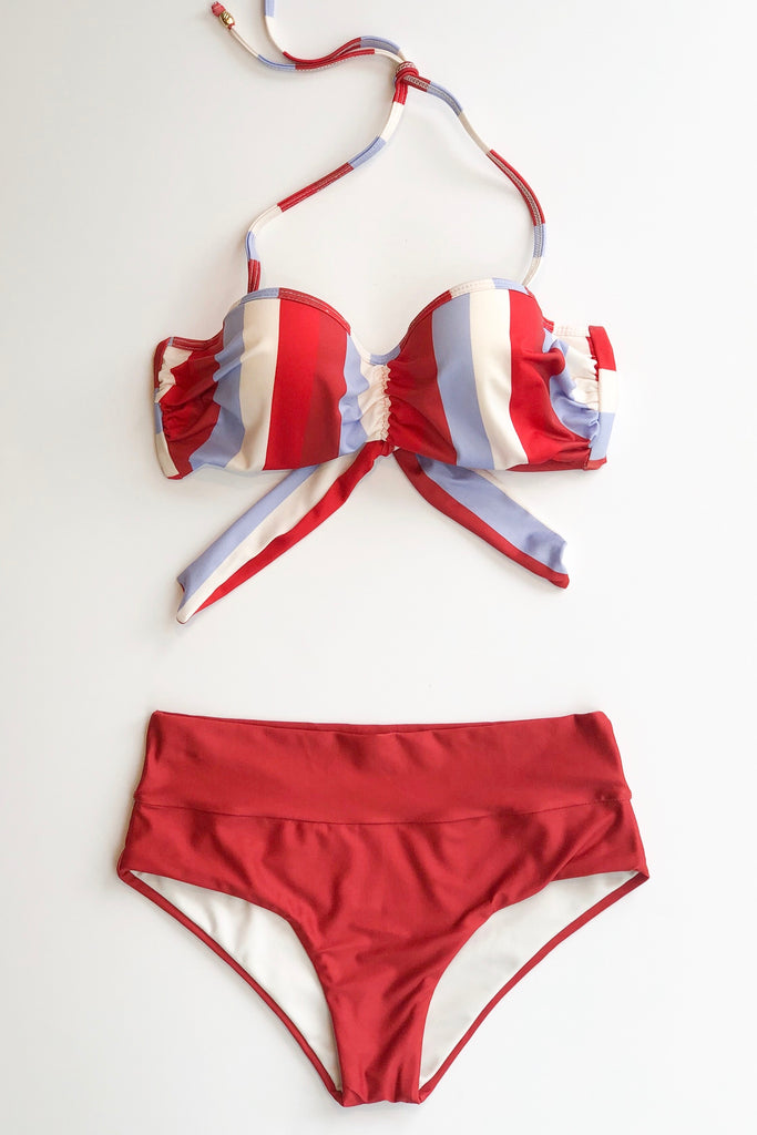 Estivo/Salua Cupped Bikini Top - Multi Stripes