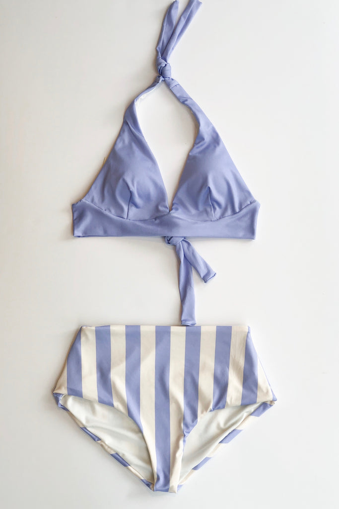 Estivo/Salua High Waisted Bottom - Lilac & Ivory Stripes