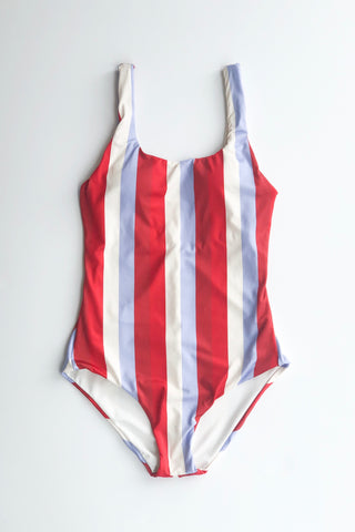 Estivo/Salua Low Back One Piece - Multi Stripes