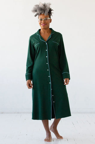 Salua Sleep Shirt in Pima Cotton - Long
