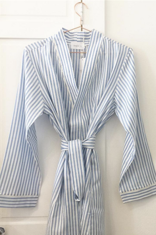 Salua Striped Cotton Robe