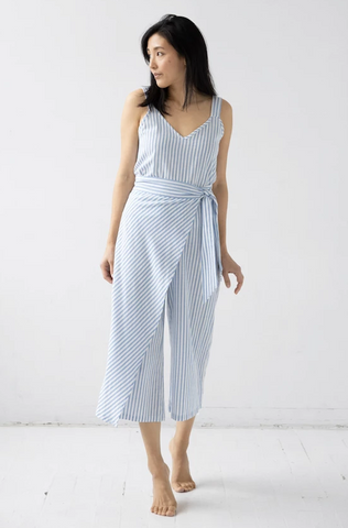 V Neck Tank and Wrap Front Pants