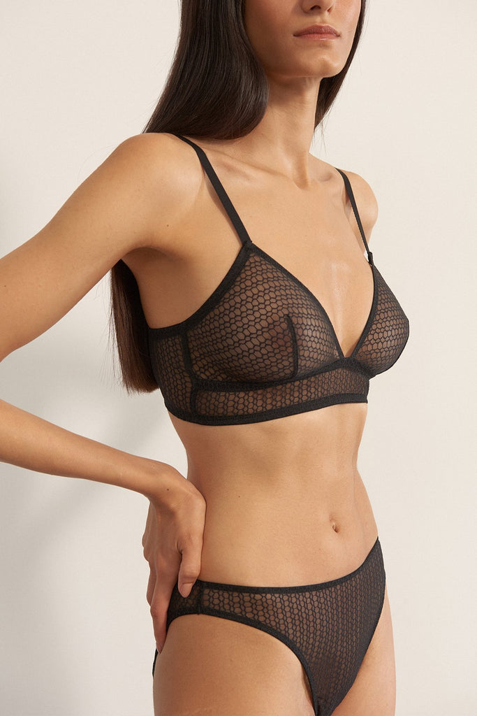Honeycomb Triangle Bra
