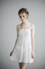 Chemise Salua Lingerie Silk Cotton Gown Sleeveless White
