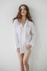 Salua Lingerie Pajamas Classic Seattle Lightweight Cotton in White Boyfriend Shirt