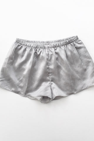 Striped Cotton-Silk Shorties