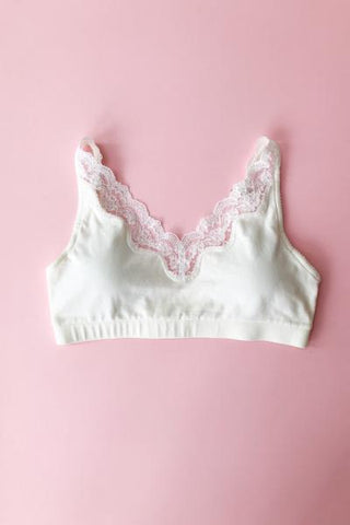 Cotton Bralet with Lace -Full Coverage