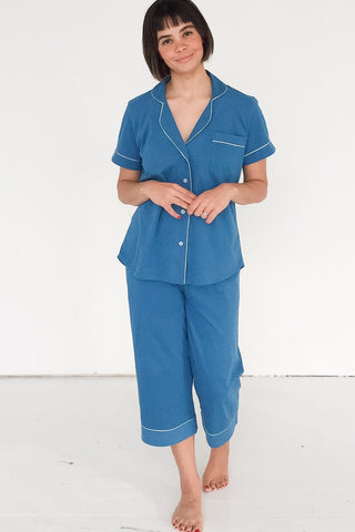 Salua Classic Capri Pajamas in  Pima Cotton