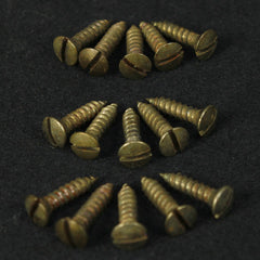 Vintage-Style, Slot-Head, Aged, Pickguard Screws