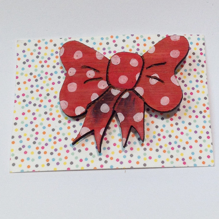 One-Off Brooch: Bow Red 2