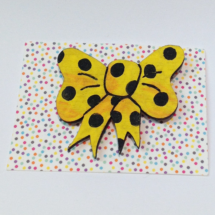 One-Off Brooch: Bow Yellow