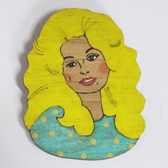 Dolly Parton Brooch handmade