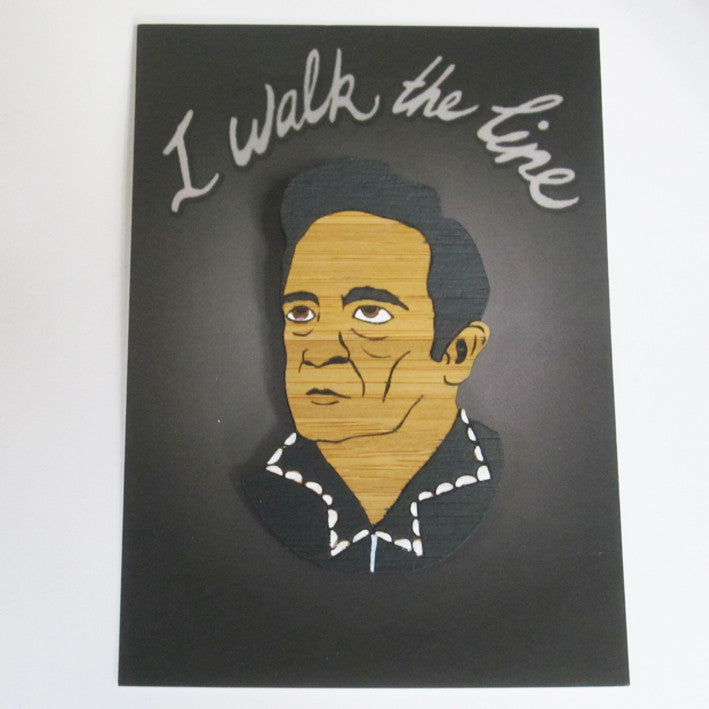 Brooch: Johnny Cash