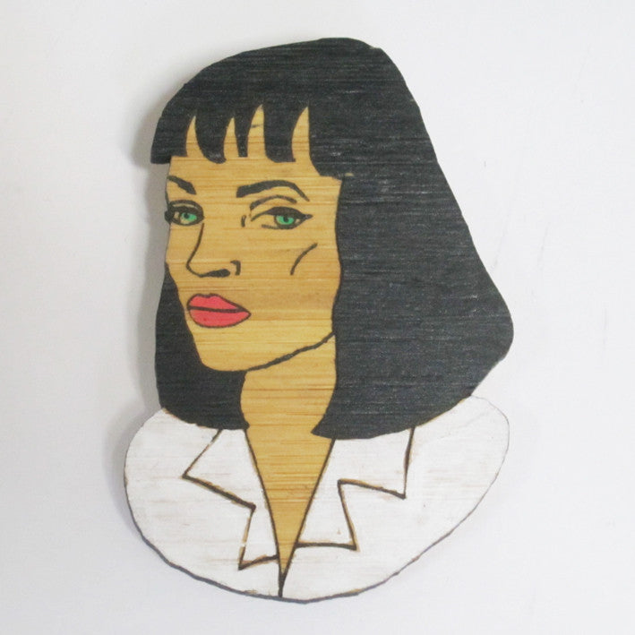 Mia Wallace Pulp Fiction Brooch Uma Thurman Handmade Tarantino