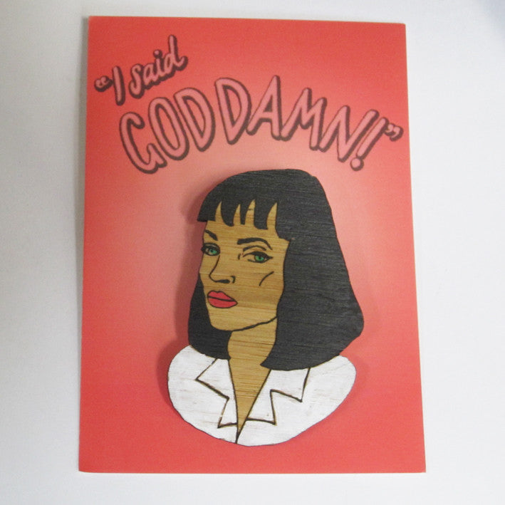 Brooch: Pulp Fiction - Mia Wallace