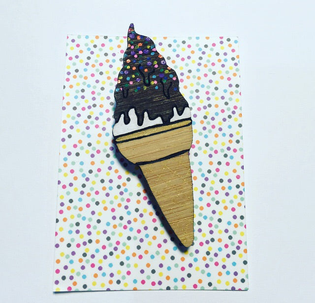 ChocTop Soft serve Ice Cream  Brooch