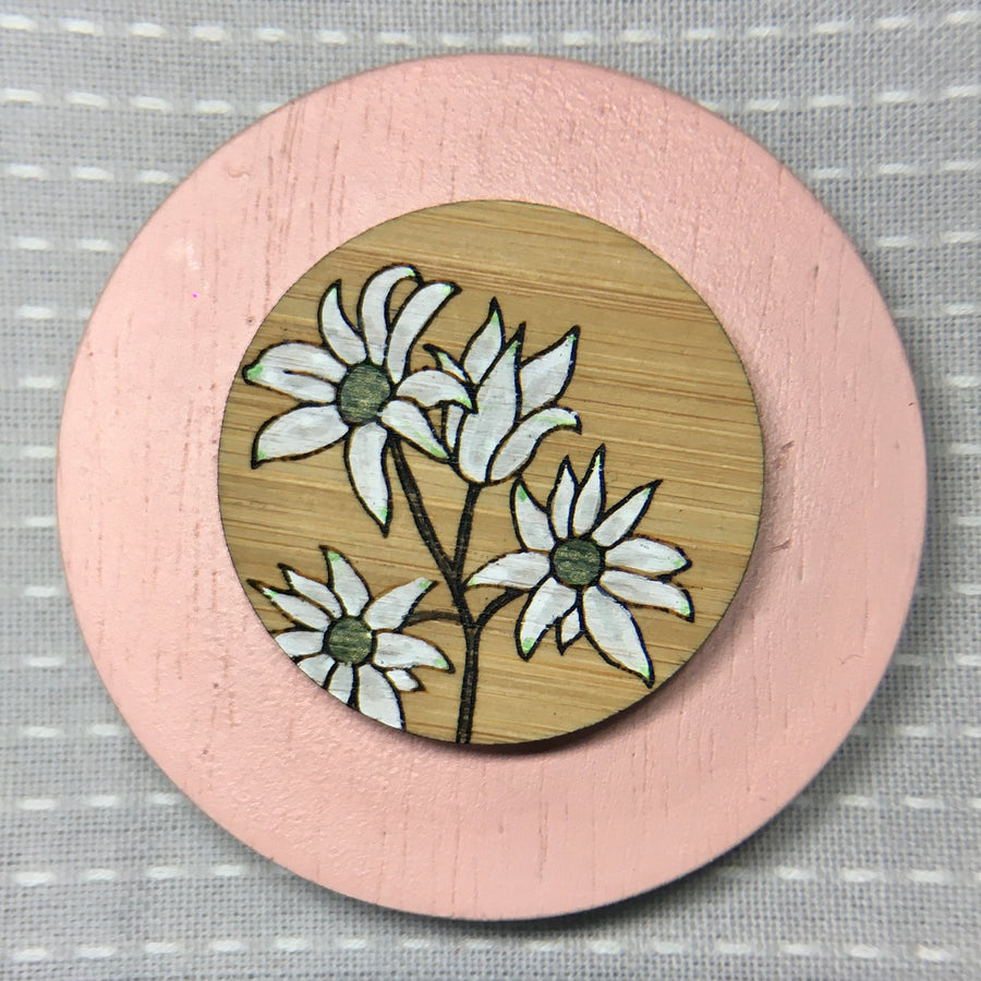 Floral Brooch - Flannel Flower