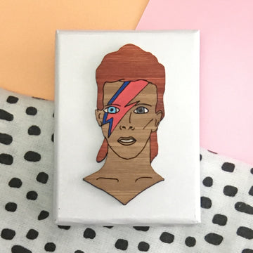 Brooch: David Bowie