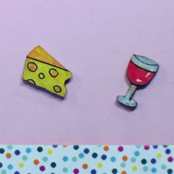 Studs: Cheese and Wine