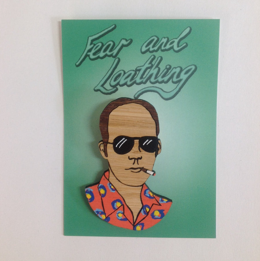Brooch: Hunter S. Thompson
