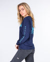 OFFSHORE WOMENS UV LS TEE - NAVY