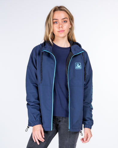 ARMED WOMENS SPRAY JACKET - NAVY